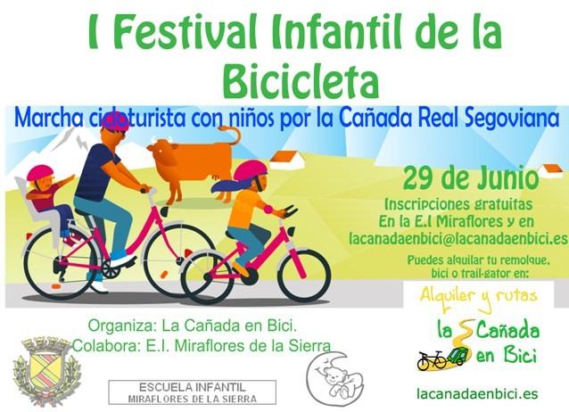 Cartel Festival de la Bicicleta en Miraflores de la Sierra