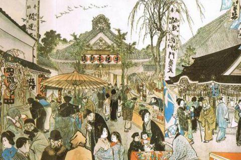 明治時代の神楽坂毘沙門天の縁日