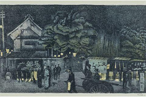 大正時代の神楽坂の夜店