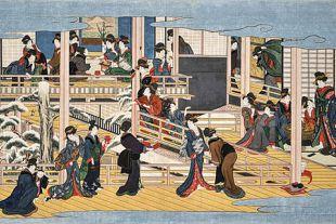 喜多川歌麿の花街の浮世絵