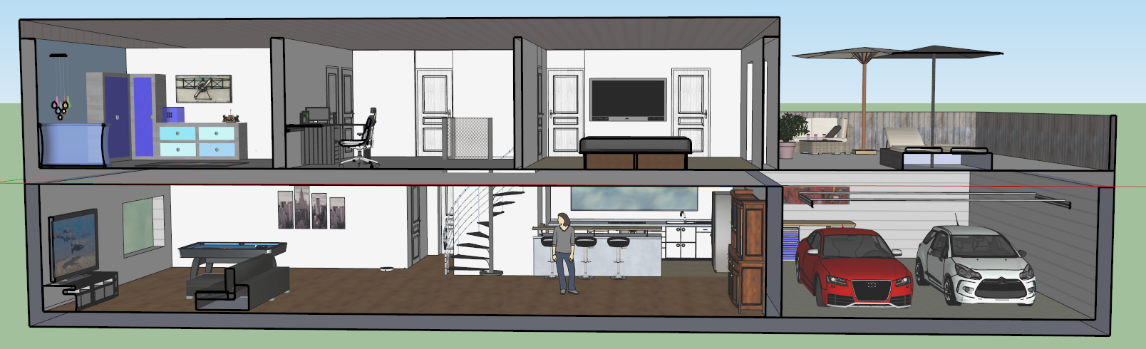Google sketchup pro 8 site de paulleflohic for Modele maison sketchup