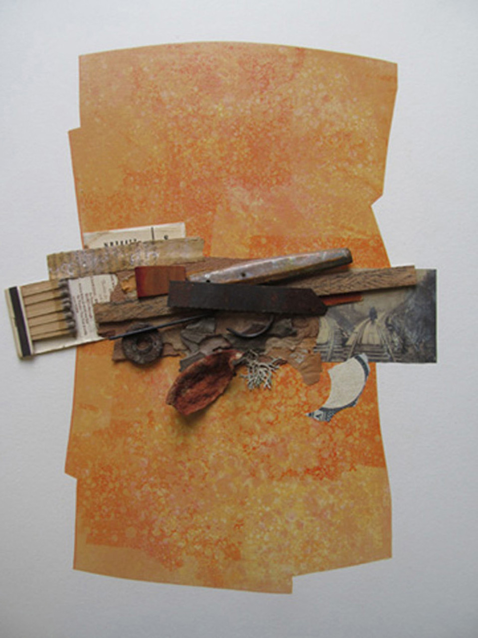 Die Reise - Monoprint-Collage -  50x60 cm in 6 parts