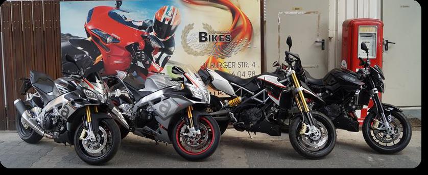 Mieten Sie in unserer Motorradvermietung eines der neuen Modelle von Aprilia und Moto Guzzi Motorädern