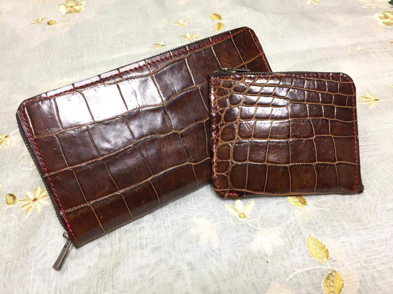 レアレザーリメイク~L字長財布とミニL字財布
