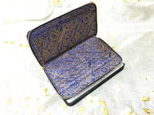 手帳型スマホケースを、お財布ケータイケースにリメイクーーカードとお札入れのみとシンプル