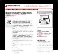 Grafik: Webscreen / Preview OPENBROADCAST - Pressemeldung der Gemeinschaftspraxis CHIRURGIE FLENSBURG NORD