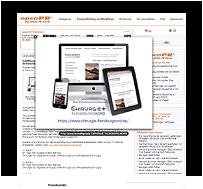 Grafik: Webscreen / Preview OPENPR - Pressemeldung der Gemeinschaftspraxis CHIRURGIE FLENSBURG NORD