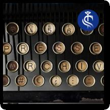 """Foto/Grafik: """"PRESSEARCHIV, Schreibmaschine"""", CHIRURGIE FLENSBURG NORD"""