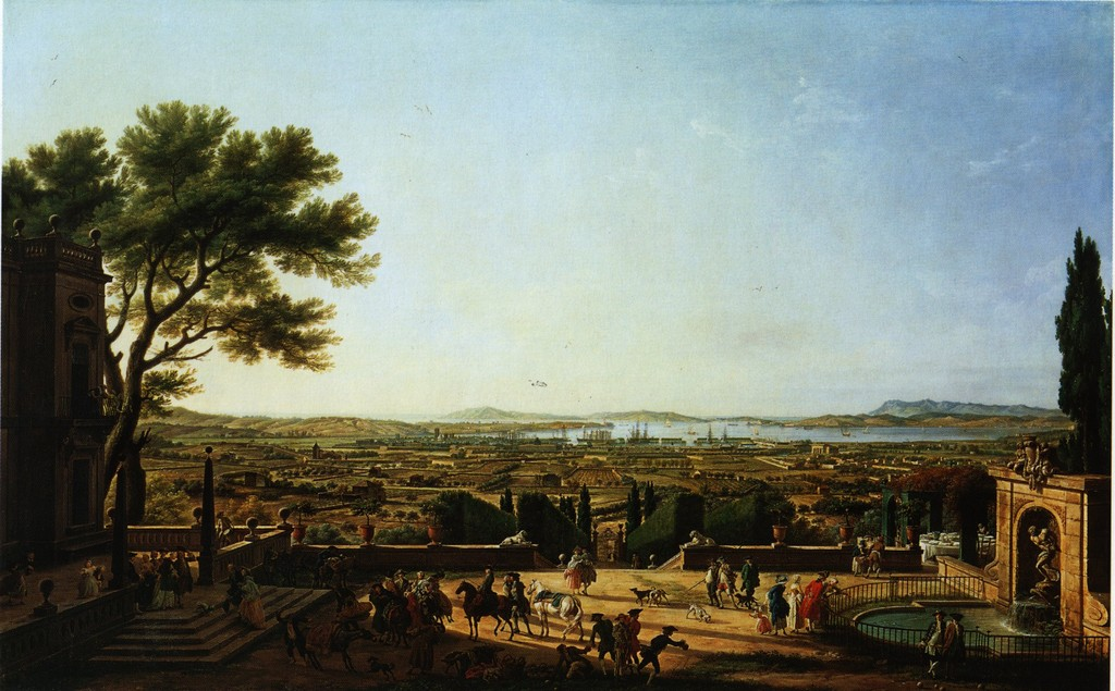 Claude Joseph Vernet (1714-1789) - Le port de Toulon, vue du Mont Faron 1755