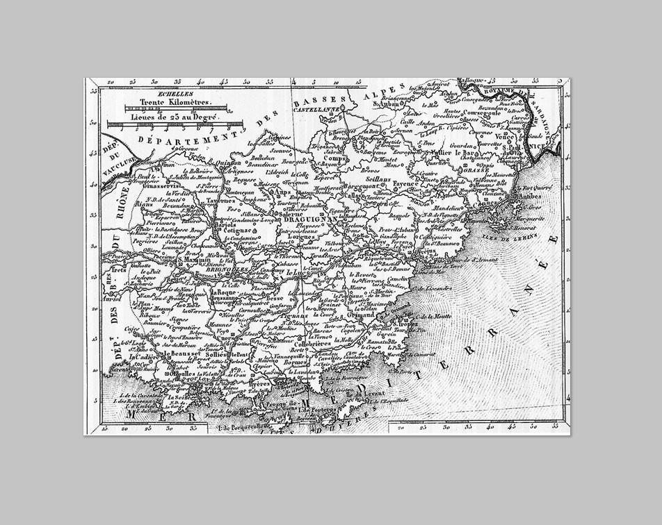 Roger Girard - Carte du Var - 1823