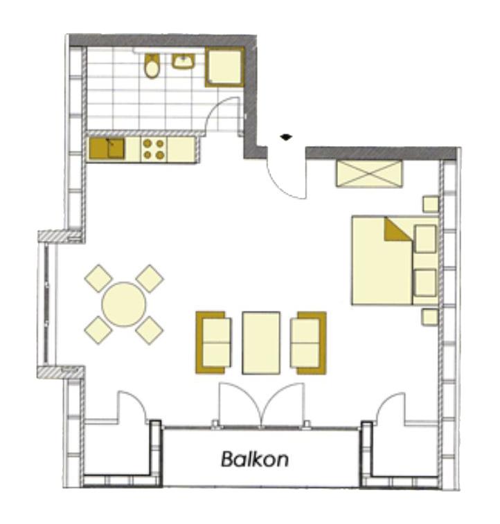 Grundriss der Wohnung 5