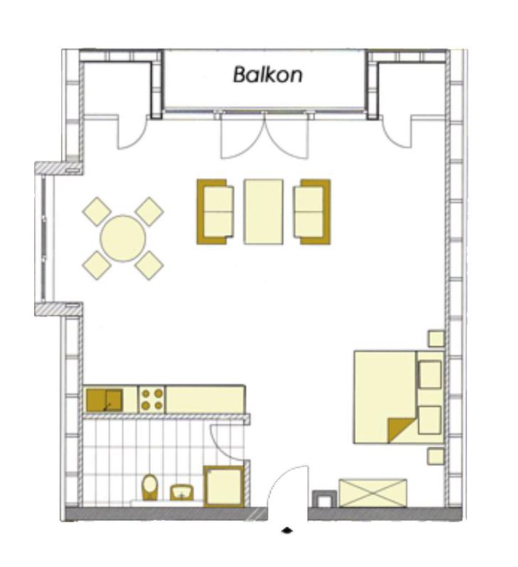 Grundriss der Wohnung 6