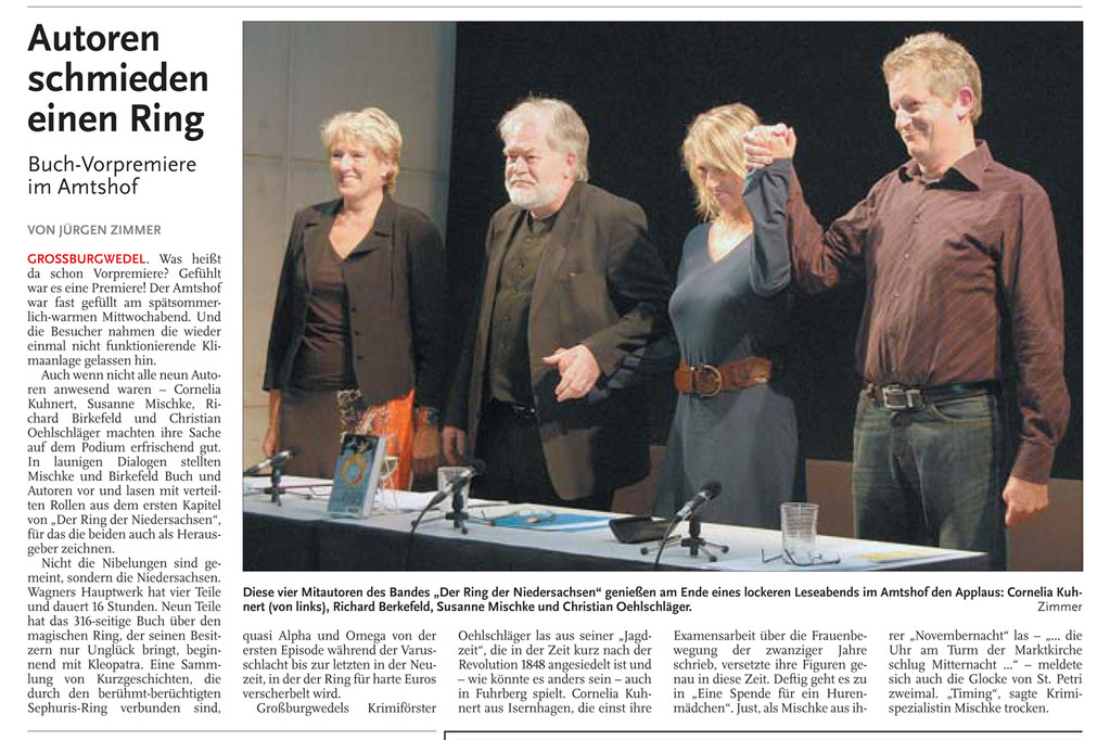 Jürgen Zimmer, Nordhannoverscher Anzeiger am 24.09.2010