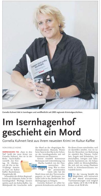 Sybille Heine, Nordhannoverscher Anzeiger am 26.10.2009