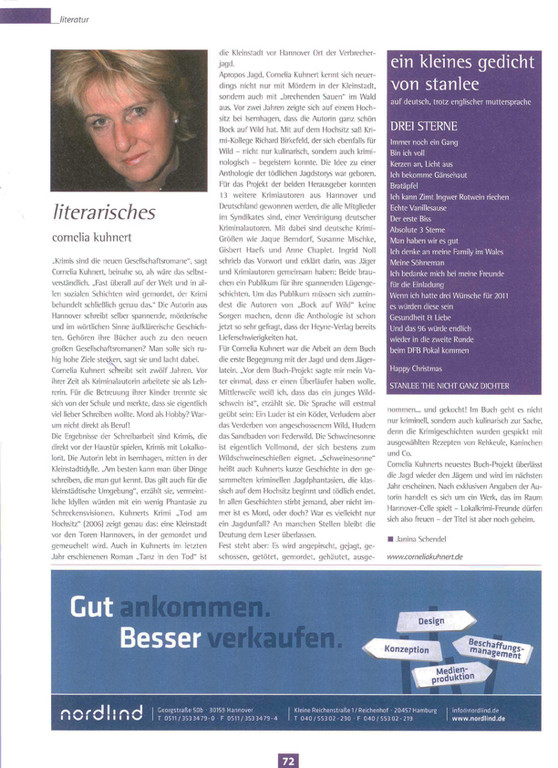 Janina Schendel, Stadtkind, Ausgabe Dezember 2010