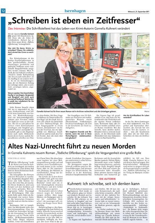 Sybille Heine, Nordhannoversche Zeitung am 21.09.2011