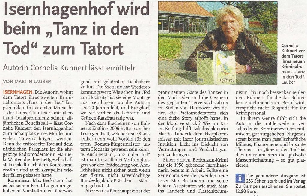 Martin Lauber, Nordhannoverscher Anzeiger am 27.09.2009