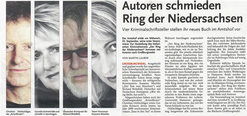 Martin Lauber, Nordhannoversche Zeitung am 11.09.2010