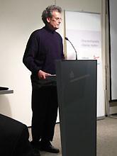 Dietrich Francke bei der Vorstellung seiner Arbeit Foto:Dr. H.-P. Haseloff