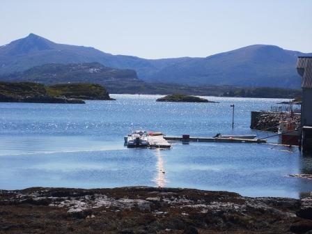 Blick aufs Festland von Averoy