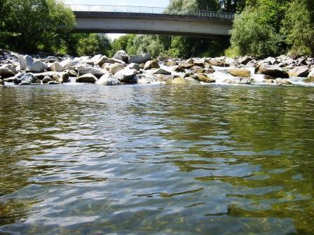 Erster Pool mit Deutenhamer Brücke