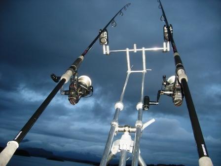 Nachtfischen vom Steg aus auf Plattfisch