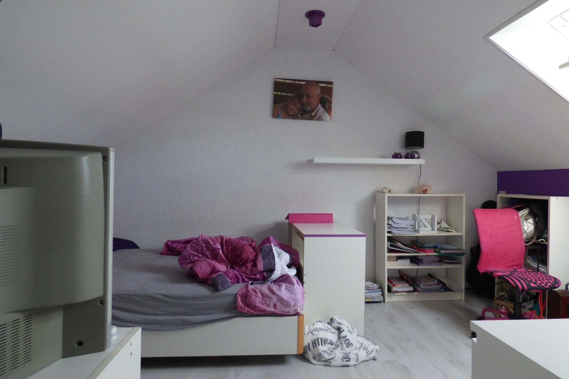 Zolder slaapkamer VOOR verkoopstyling