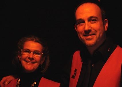 La Présidente, Marie-Christine Lepot et Patrice Blanchard