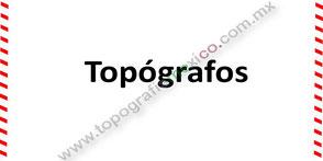 topografos y topografas en México