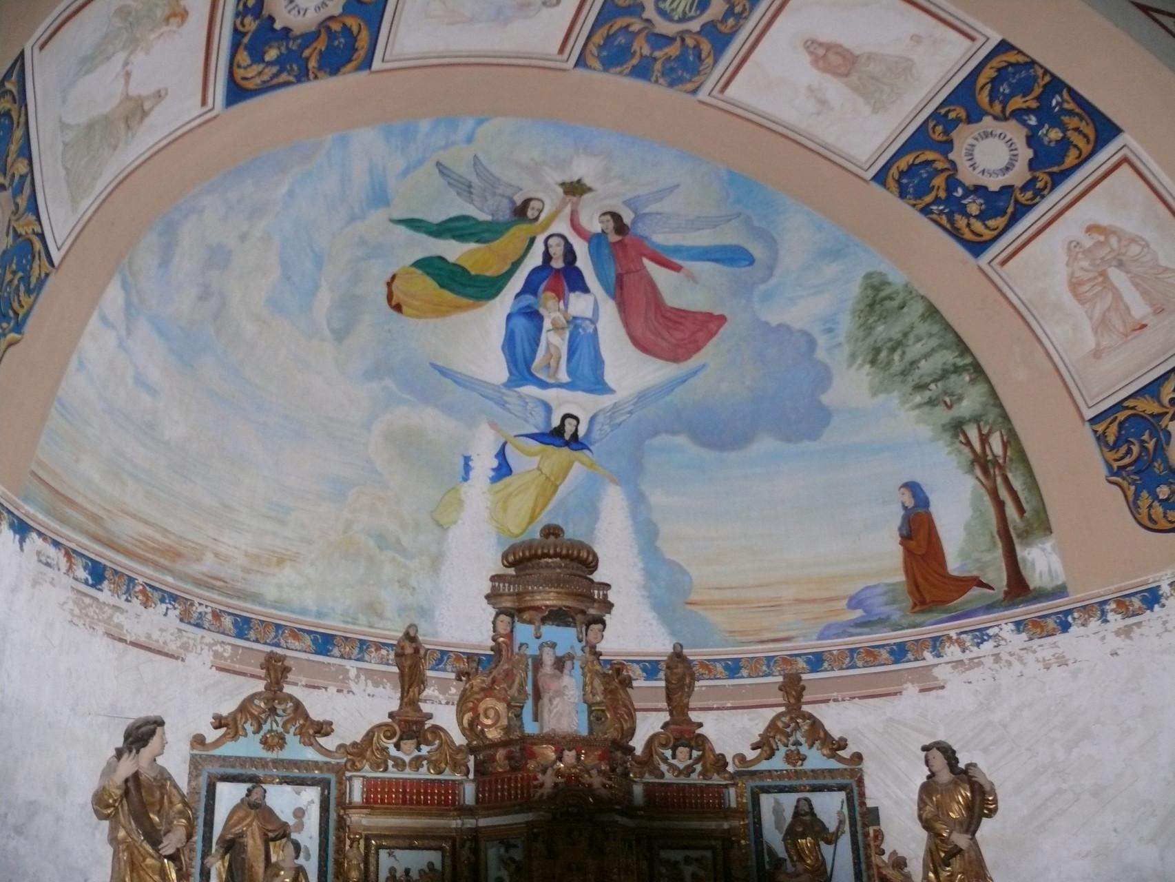 le plafond peint de Notre-Dame des Neiges à Gourdon
