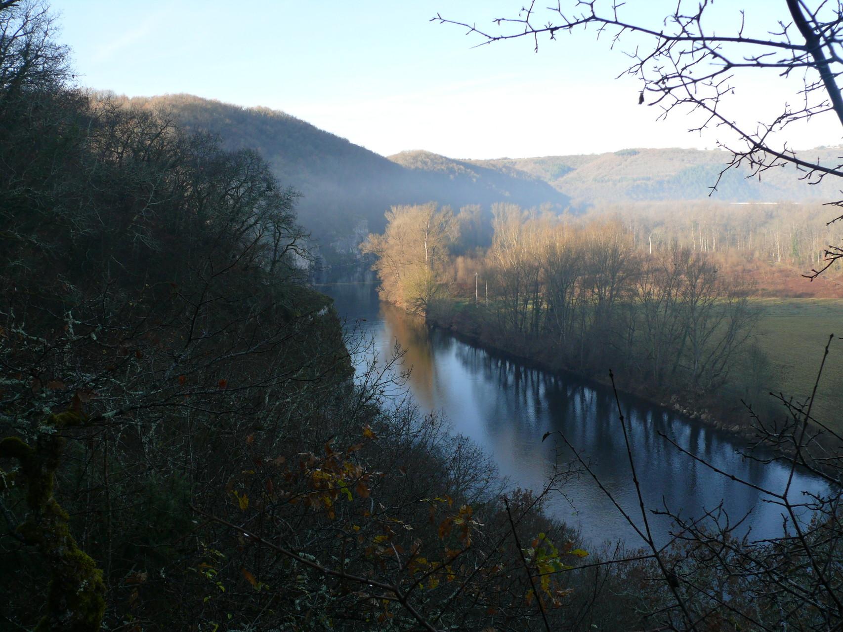La Dordogne depuis le sentier du Bastit de Pinsac