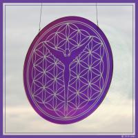 Designeglas Blume des Lebens