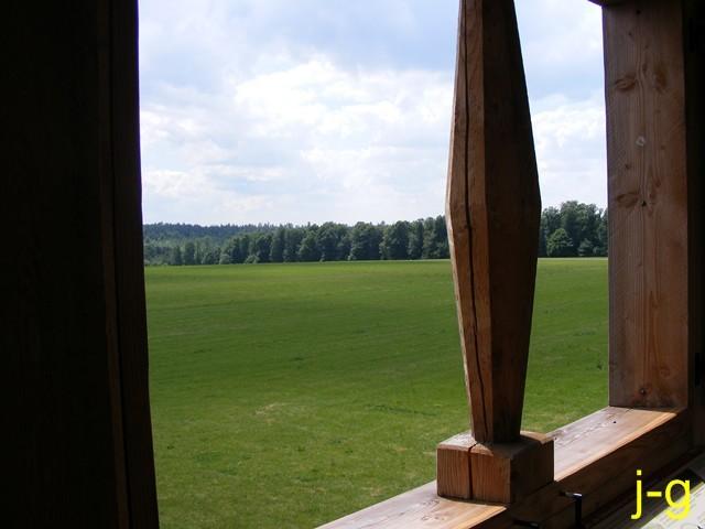 """Blick aus dem Limeswachturm """"Im oberen Haspel"""" (WP 10/15)"""