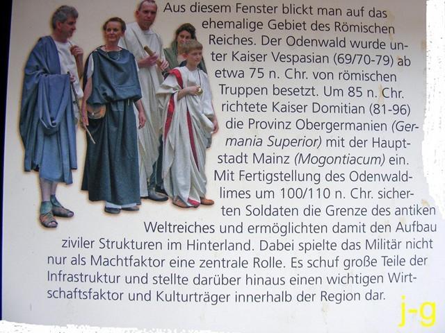 """Aus Schautafel: Limeswachturm """"Im oberen Haspel"""" (WP 10/15)"""