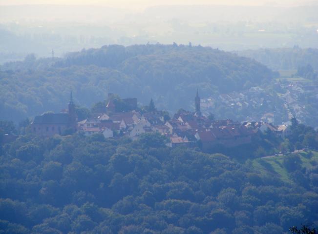 "Bergfeste Dilsberg (vom ""Goetheblick"" gesehen)"