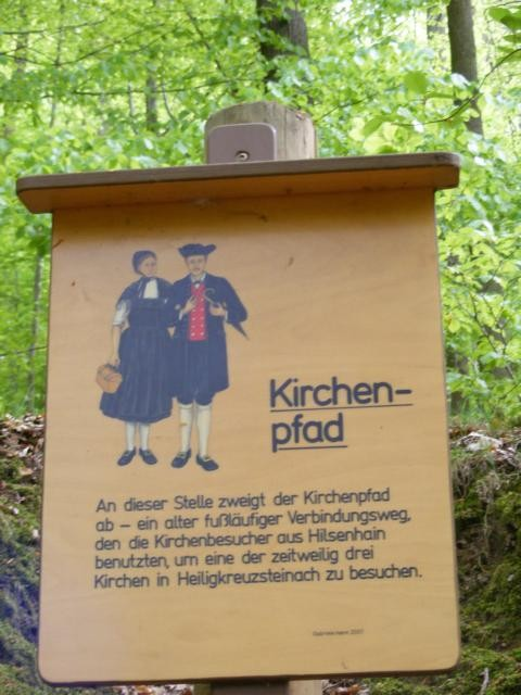 """Schild """"Kirchenpfad"""""""