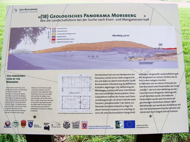 Schautafel des Geo-Parks