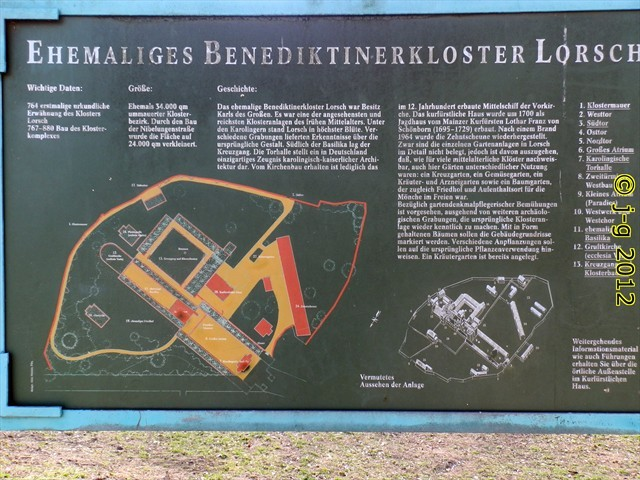 Karte der ehemaligen Benediktinerabtei in Lorsch