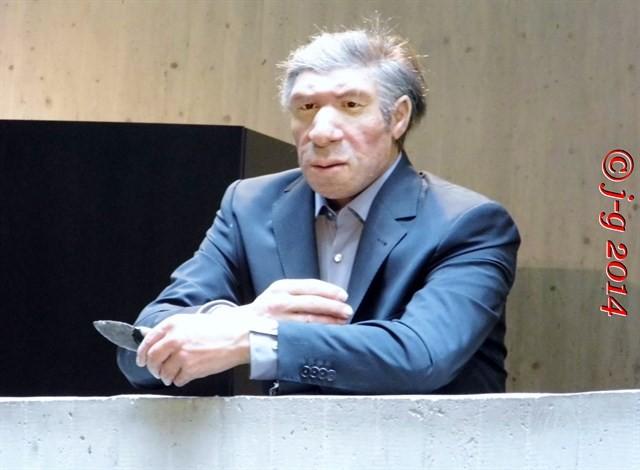 """So sieht der """"Herr Neanderthal"""" in heutiger Kleidung aus!"""