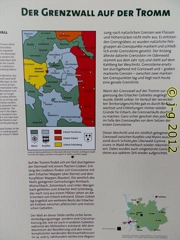 Geo-Park-Tafel zum Grenzwall