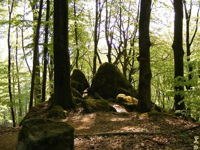 Wildweibchenstein vom Wanderweg gesehen