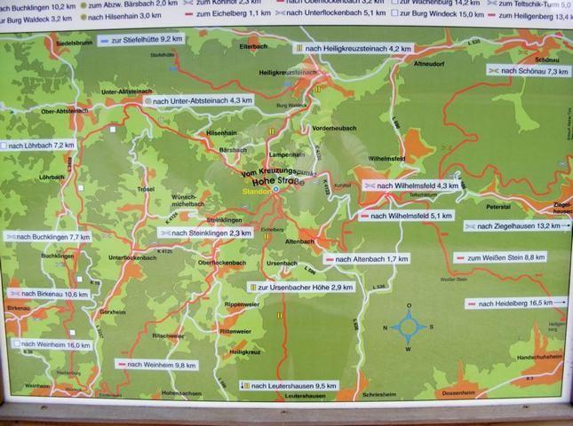 Karte an der Hohen Straße