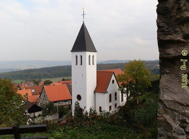 Blick auf die Gemeinde Hering - unterhalb des Otzberges
