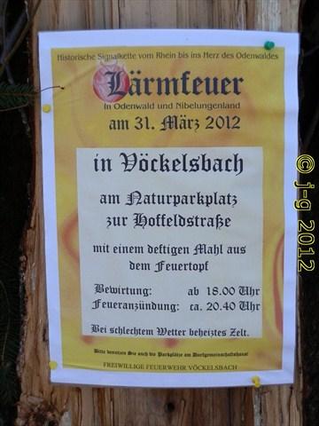 Vöckelsbach Ankündigung Lärmfeuer