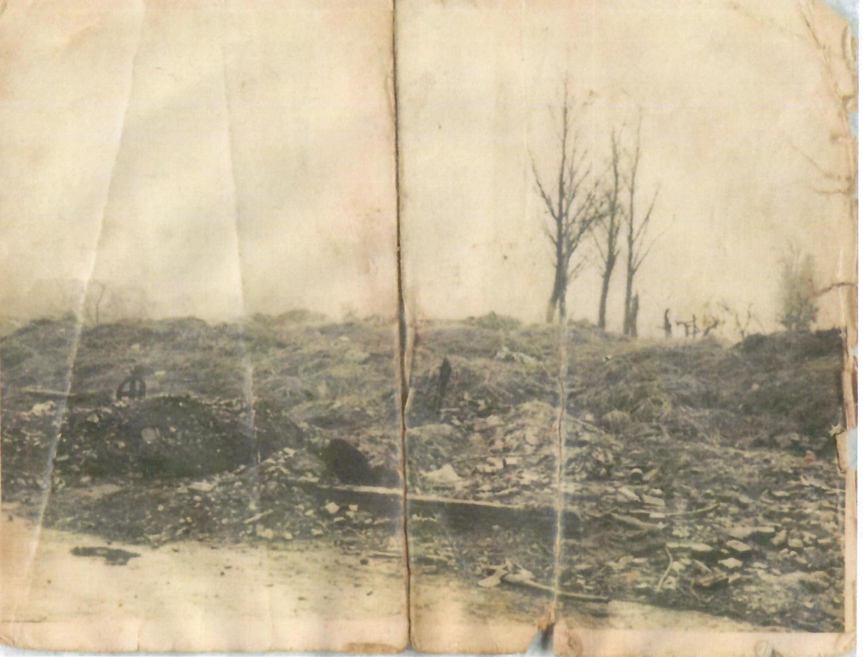 Restanten na de brand September 1944