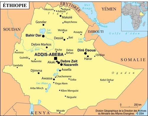 Pricipales ville d'Ethiopie