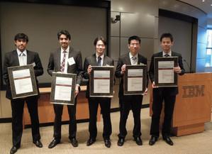 ESADEの優勝チーム@IBM本社(New York) 表彰式の様子