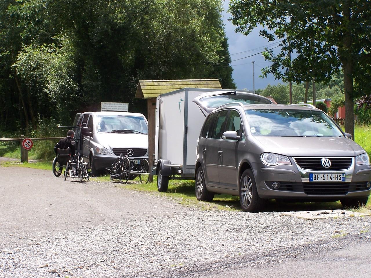 Utilisation du Handbike sur la voie verte à Fumeçon