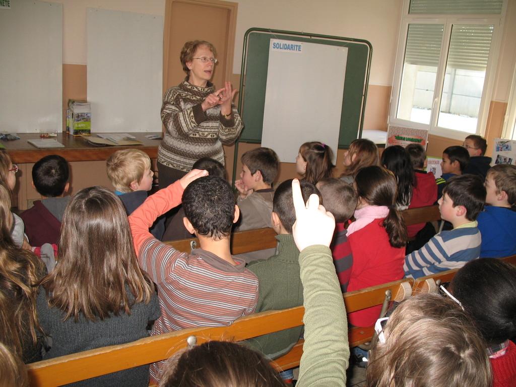 2012 présentation de RDB 61 à l'école Paul Bert de Flers