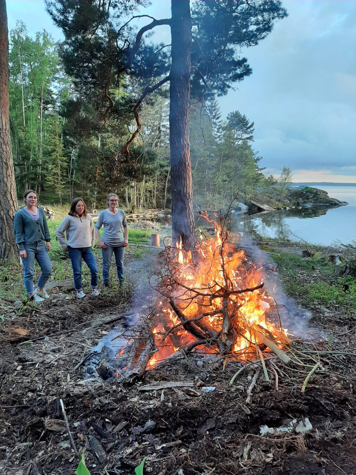 Lagerfeuer in Marieudd